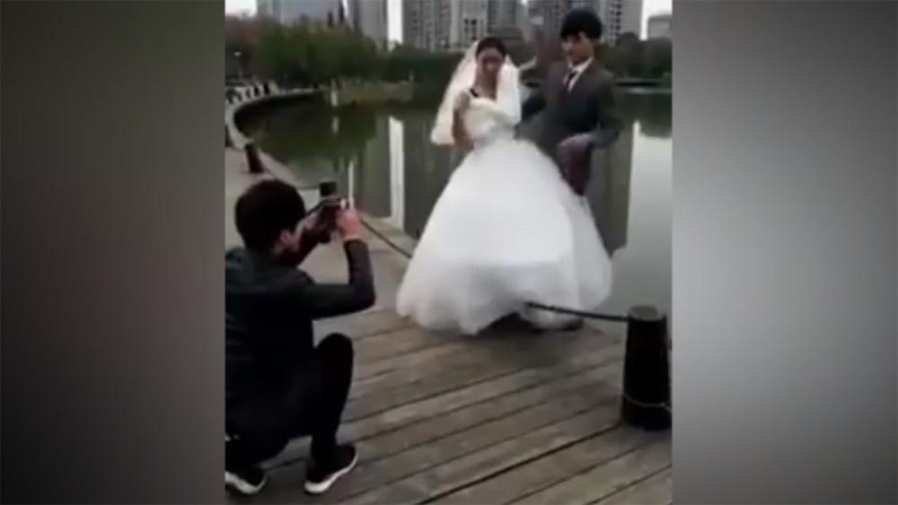 Những tai nạn bất ngờ của các cặp đôi khi chụp ảnh cưới